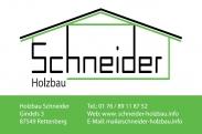 Logo Holzbau Schneider GbR