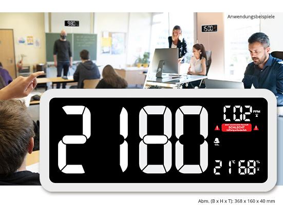 technoline CO2-Messgerät im XXL-Wanduhr-Design WL1040, Kohlendioxid, mit grafischer Ampel-Anzeige; Artikel-Nr. 251955; 117,64€*